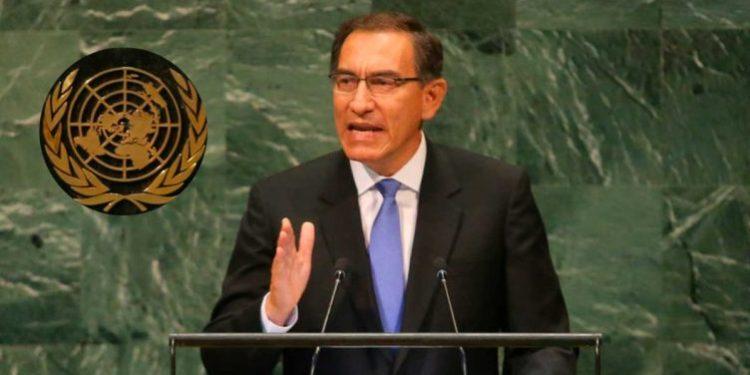 Vizcarra dijo ante la ONU que está luchando contra la corrupción frontalmente
