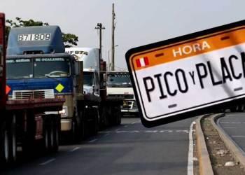 """Conductores de carga pesada anuncian paro de transporte en rechazo al """"Pico y Placa"""""""