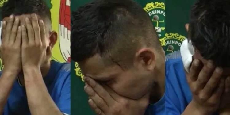 Venezolano es capturado robando celular y llora para que no lo deporten