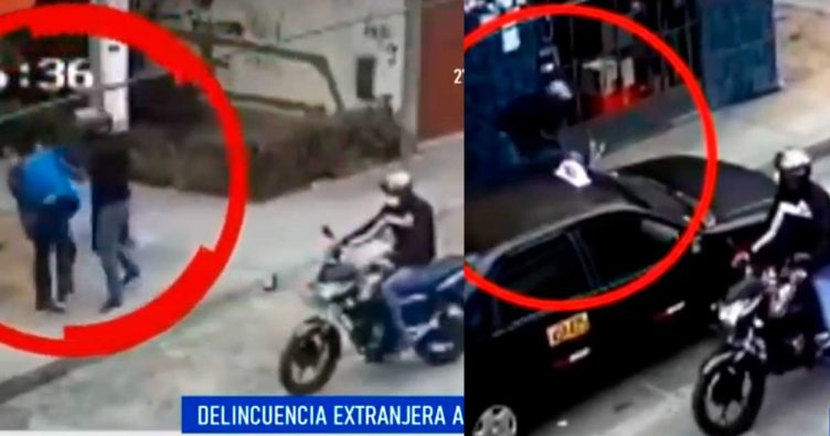 Delincuencia extranjera: Venezolanos asaltan a anciano cerca de su casa   VIDEO
