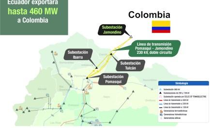 Ecuador incrementará exportación de energía a Colombia