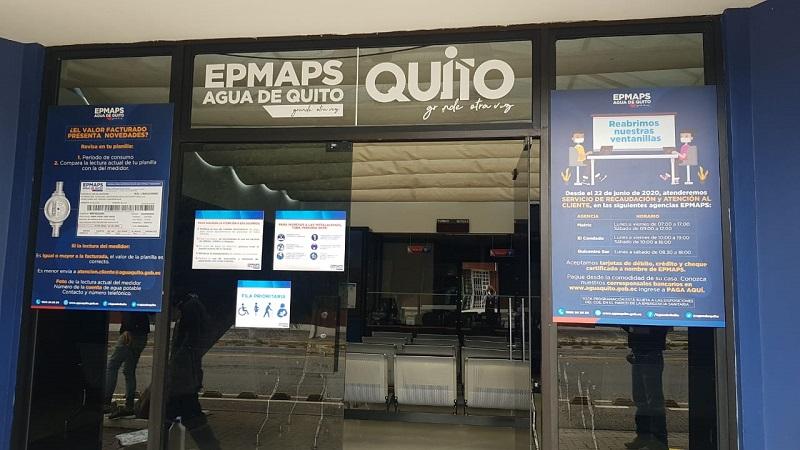 Epmaps inicia atención presencial en tres de sus agencias