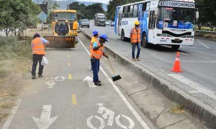 Limpieza en ciclovía incentiva la práctica del deporte en Guayaquil