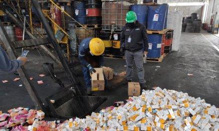 937 toneladas de medicamentos caducados fueron incinerados