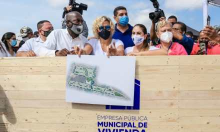 Alcaldesa de Guayaquil anunció un nuevo Plan de viviendas populares para Monte Sinahí