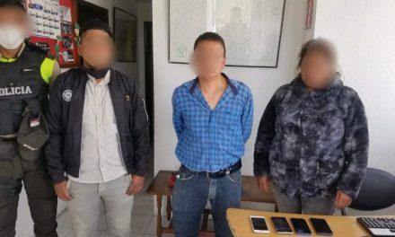 Operativo policial dejó como resultado 5 aprehendidos en delito flagrante