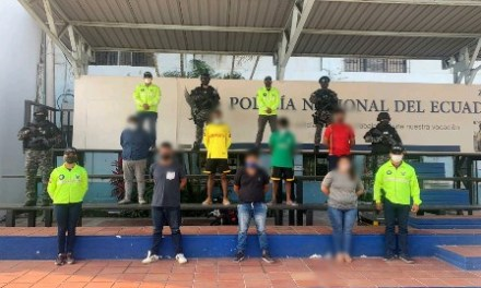 7 personas fueron aprehendidas por delito de secuestro extorsivo en Guayaquil