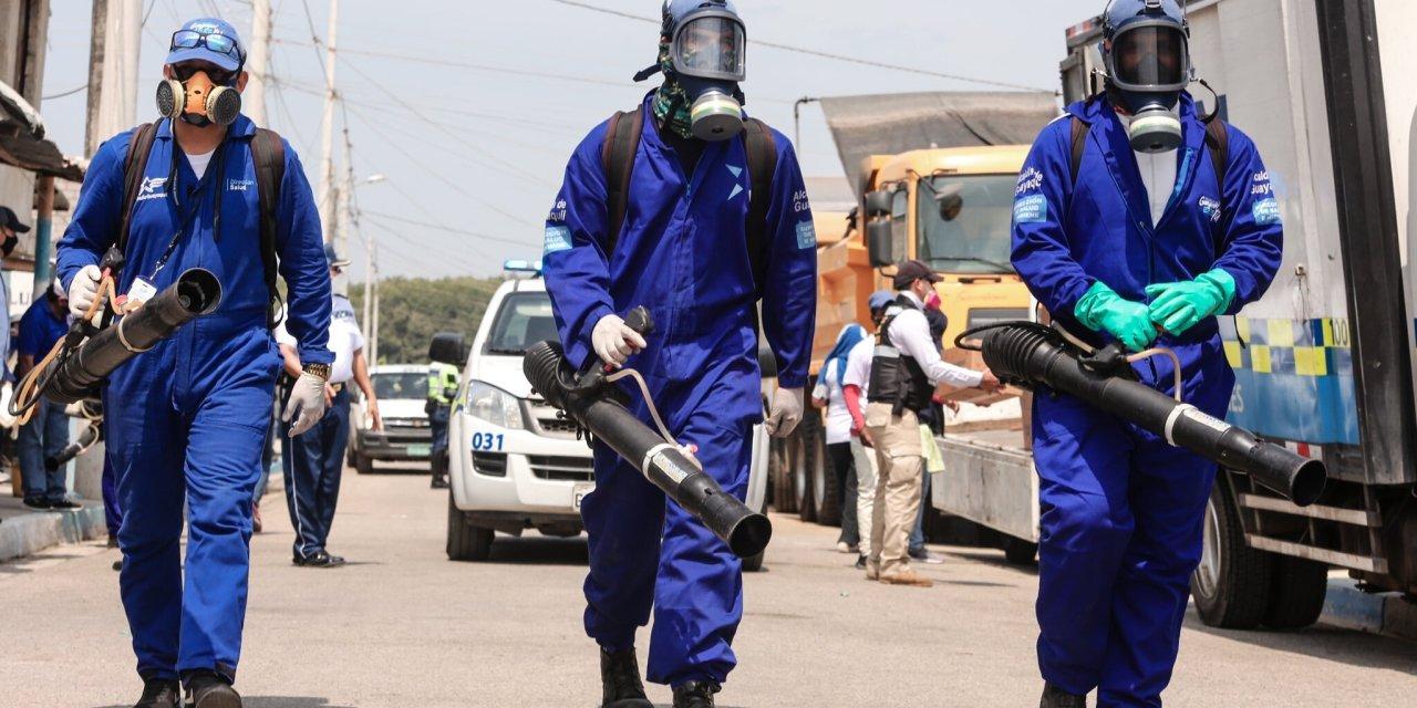 Campaña preinvernal de fumigación y desratización se desarrolla en el sur de Guayaquil
