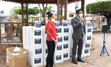 Kits de alimentos recibieron personas con discapacidad de parte del GAD Parroquial de Tarifa