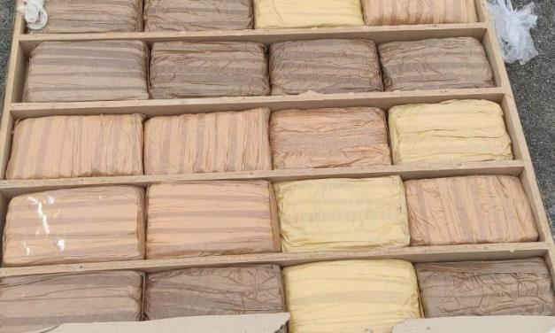 110.3 kilos de marihuana estaban ocultos en la estructura de una cama