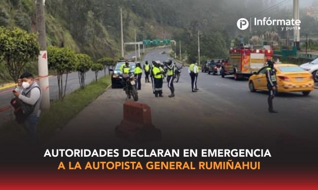 Autoridades declaran en emergencia a la Autopista General Rumiñahui