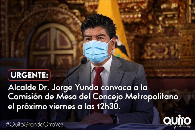"""Municipio se retracta de su anuncio sobre convocatoria de Yunda para conocer su """"excusa"""""""