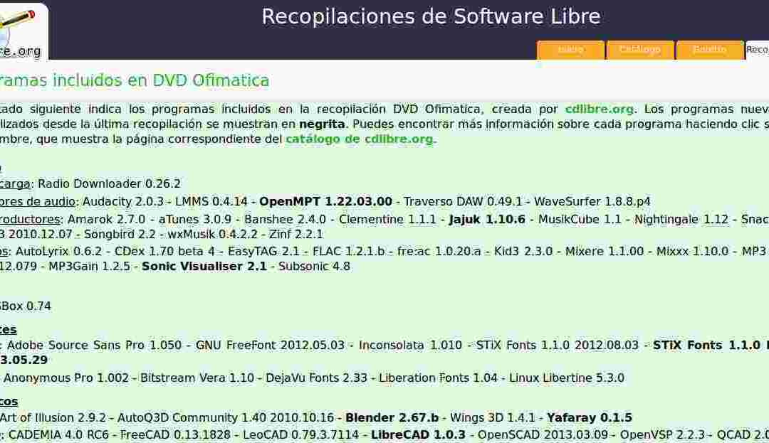 CDLIBRE.ORG descarga de recopilatorios de software libre