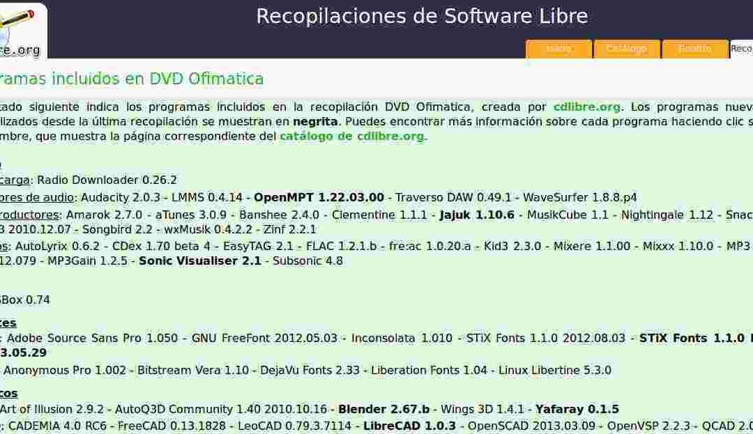 CDLIBRE.ORG descarga de recopilatorios de software libre