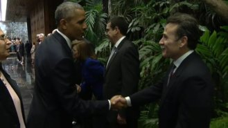 bezoek-obama-Gustavo Machin-spion-uitgewezen in 2002 persona non grata- conspirator Oswaldo Paya21032016
