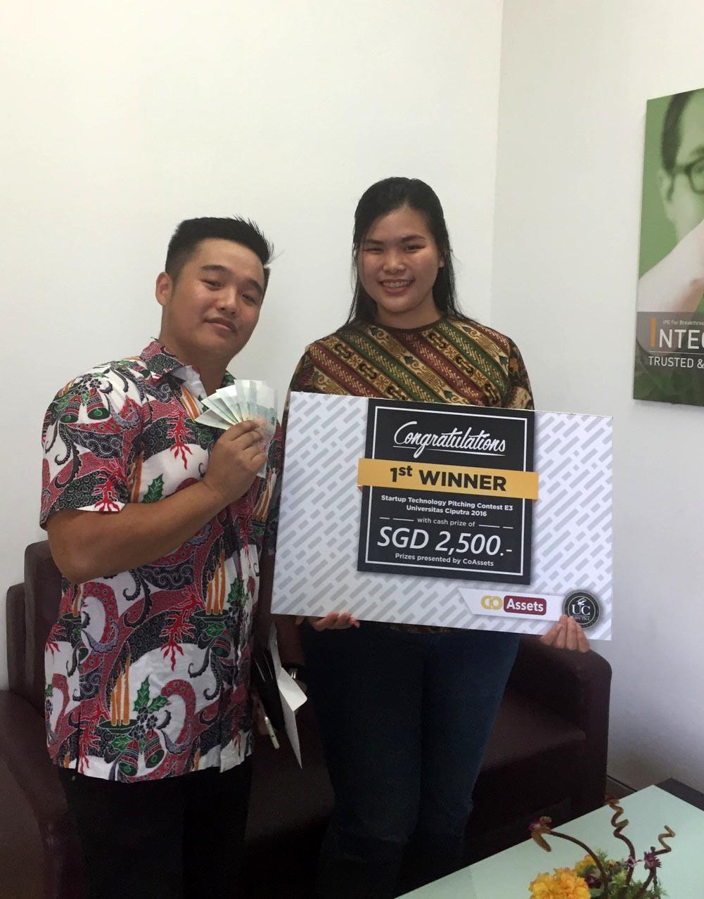1st Winner Technology Startup Pitch: SGD 2.500