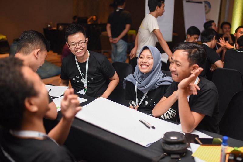 Sesi Diskusi Kelompok dalam rangkaian acara Google DSC Indonesia Summit 2018