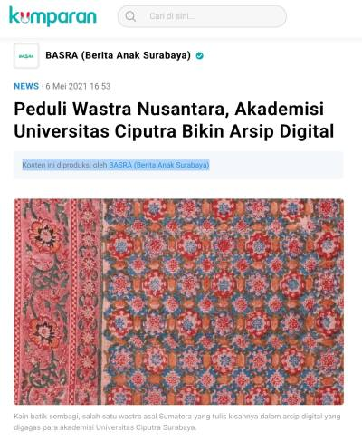 Indonesian Textile Legends and Stories