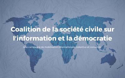 Le Forum sur l'information et la démocratie lance une coalition de la société civile avec 42 organisations non gouvernementales de 24 pays