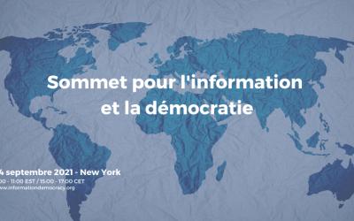 Une avancée majeure au Sommet de New-York : lancement de l'«Observatoire international sur l'information et la démocratie»