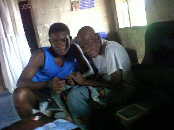 Ogheneserome and hes grama Onime Priscilla Omokerafe Okpiyo photo