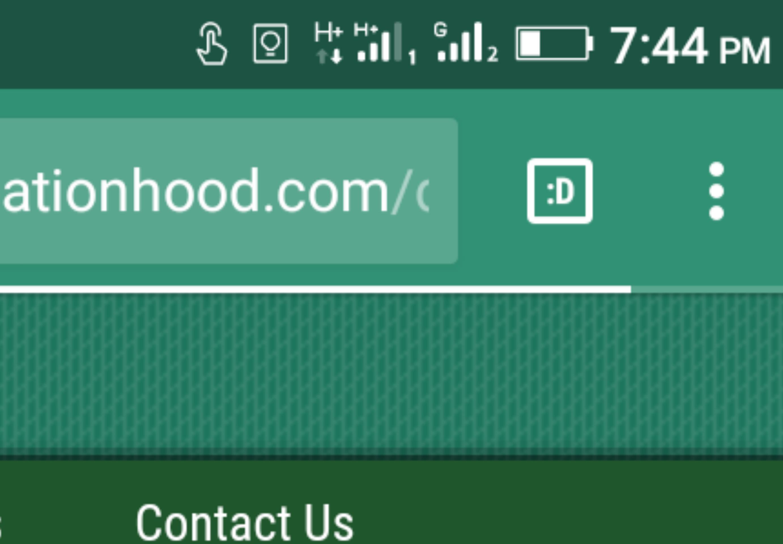 Google chromenBookmark icon on phone