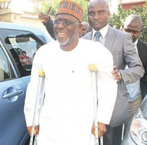 AN ELATED IDRIS WADA AT CEDAR CREST HOSPITAL ABUJA FOR CHECK UP