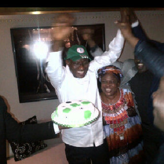 Nigeria's President Goodluck Jonathan Rejoices After Super Eagles' AFCON Victory