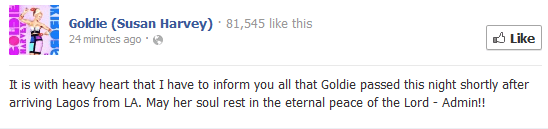 goldie is dead lindaikejiblog