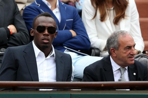 Usein Bolt Watches From the Stands.