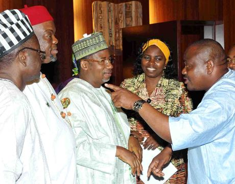 NYESOM WIKE POINTING OUT SOMETHING OF INTEREST TO HIS COLLEAGUES AT WEDNESDAY'S FEC MEETING