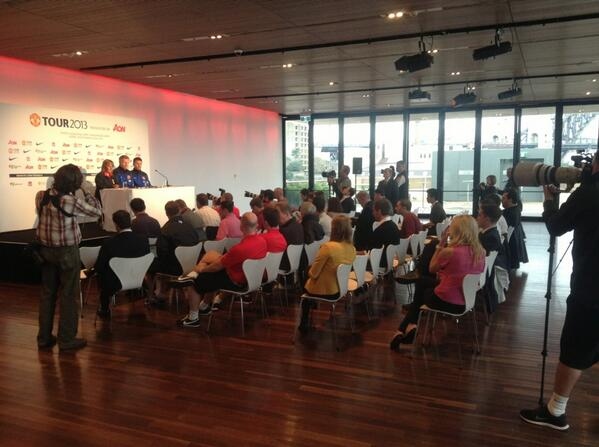 David Moyes and Michael Carrick Respond to Questions in Sydney.