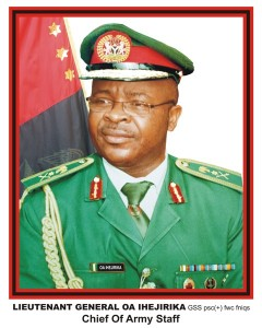 Chief of Army Staff, Lt-General Azubuike Ihejirika