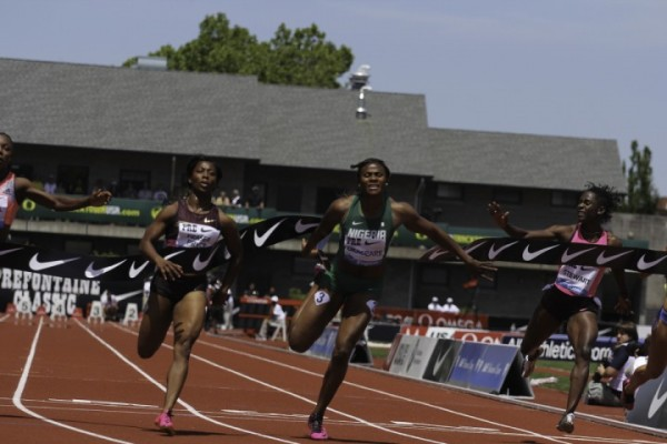 Okagbare at the Prefontaine Classics Likewise, Finished Behind Fraser Pryce Over 200m.