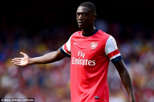 In Action: Yaya Sanogo Joined Arsenal From Bordeaux This Summer on a Free Transfer.