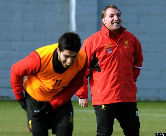 Luis Suarez and Brendan Rodgers.