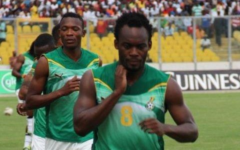 Michael Essien Trains With the Black Stars Ahead of Zambia Match.
