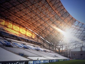 Home Stand of the Stade Velodrome, Venue of Marseille-Arsenal Clash.