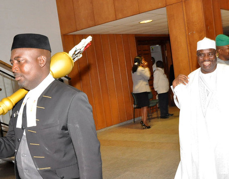 SPEAKER, HOUSE OF REPRESENTATIVES AMINU TAMBUWAL, GOING FOR PLENARY  AS THE HOUSE RESUMED IN ABUJA ON TUESDAY