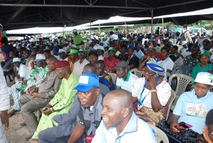 PDP MEMBERS AT THE LAUNCH OF PDP ENUGU STATE LOCAL GOVERNMENT AREA  RALLY  IN ENUGU ON THURSDAY