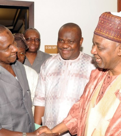 ASUU MEETING WITH VICE PRESIDENT NAMADI SAMBO IN ABUJA RECENTLY