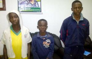 From left— Onyedikachi Ukpabio 14; Lateef Popoola 13, and Joshua Amadi, 14.  photo: Vanguard