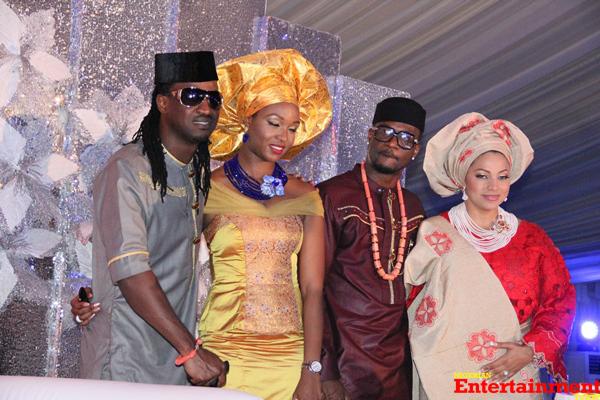 Peter-Okoye-weds-Lola-Omotayo-Paul-Okoye-with-fiancee-Anita-and-the-couple-copy