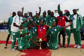 Supersand Eagles Celebrates, After Defending the 2012 Copa Lagos.