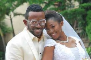 J-Martins-and-wife-Nnezi-Diana-Mbila-at-their-white-wedding-May-2013