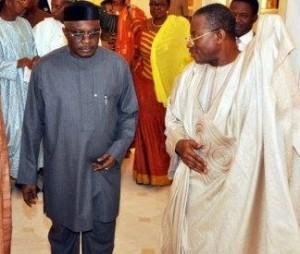 Mike Oghiadome with President Jonathan