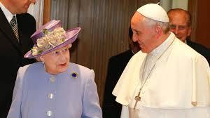 Queen Elizabeth II Meets Pope Francis At The Vatican