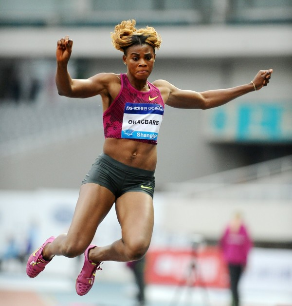 Nigeria's Blessing Okagbare Set a New Meeting Record of 6.86m to Win the Women's Long-Jump In Shanghai. Image Credit: Erole Anderson.
