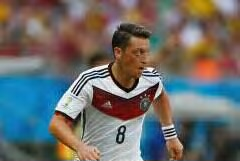 Mesut Ozil in action for Germany