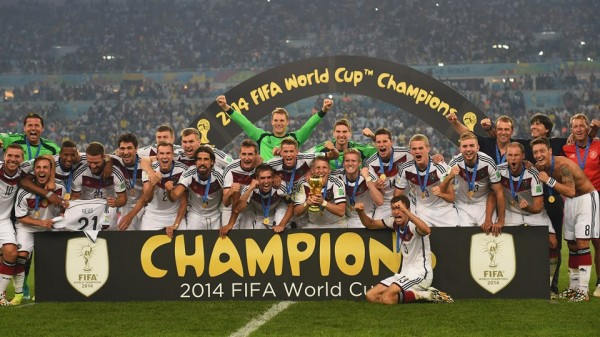 Germany Celebrates Winning Their Fourth World Cup Title In Brazil. Image: Fifa via Getty Image.